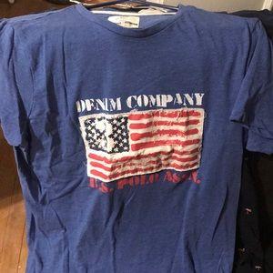 US Polo ASSN denim Co T-shirt. Size Small